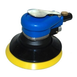 "TCP Global Brand 6"" Dual Action D.A. Sander With Pad, Air Powered, (1/4""NPT)"